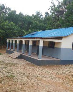 Solar panel on school roof